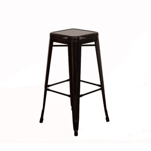 Top Reviews Piccolo Backless Top Mesh 24 Bar Stool (Set of 2) By Gracie Oaks