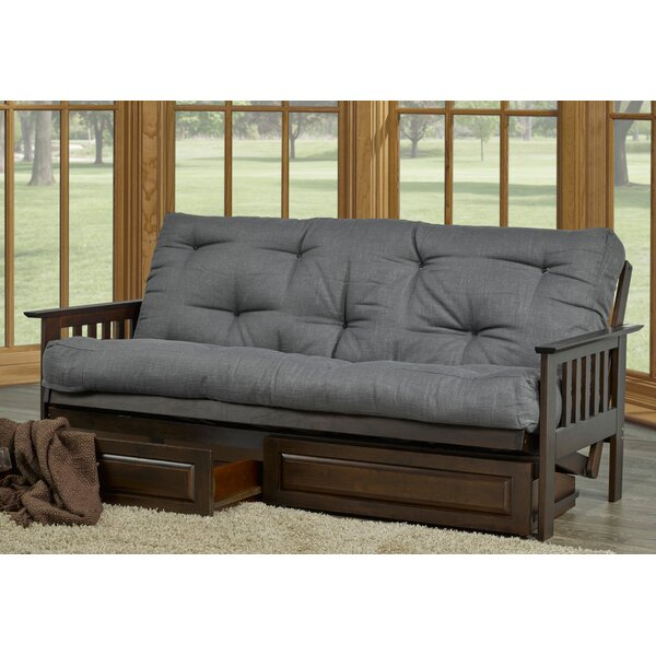 Mazur Full Tufted Back Futon And Mattress By Red Barrel Studio
