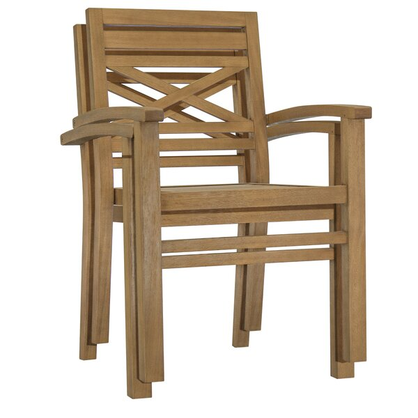 Dunaway Stacking Patio Dining Chair (Set of 3) by Highland Dunes