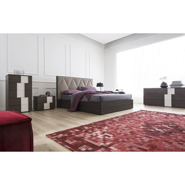 Erie Upholstered Platform Bed with Mattress by Calligaris