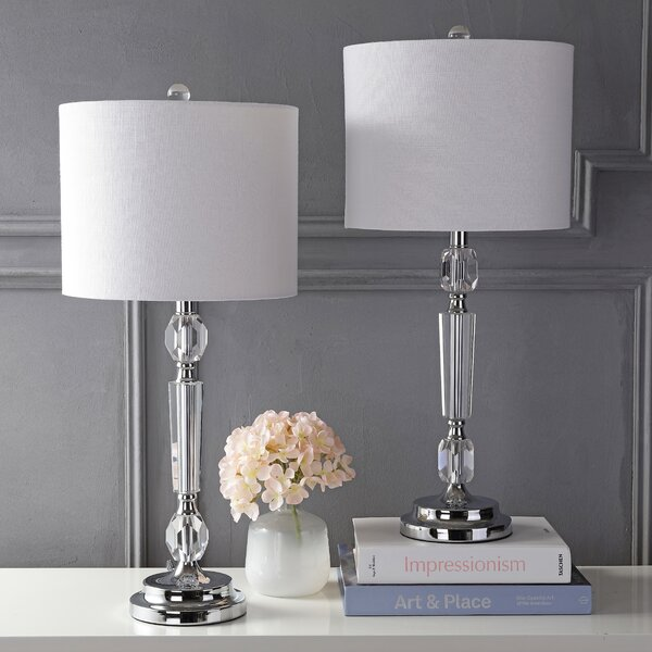 Franklyn Crystal 27 Table Lamp Set (Set of 2) by Rosdorf Park