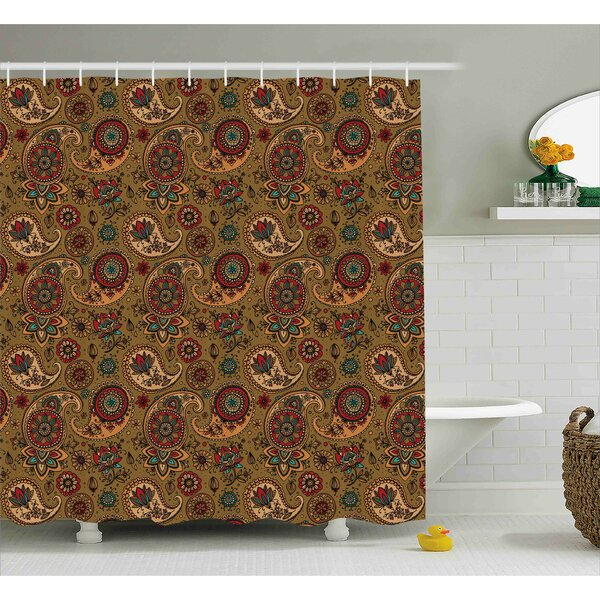 Bautista Vintage Authentic Decor Shower Curtain by Bloomsbury Market