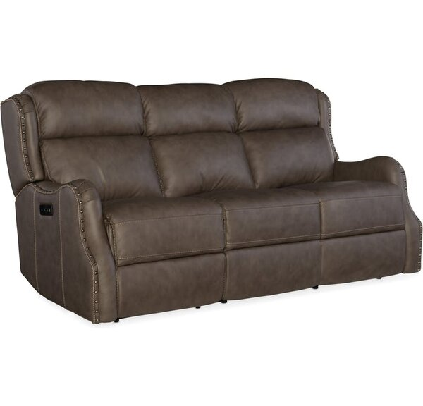 Buy Fashionable Sawyer Leather Reclining Sofa by Hooker Furniture by Hooker Furniture