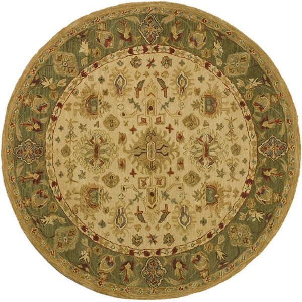 Anatolia Cream/Dark Sage Area Rug by Safavieh