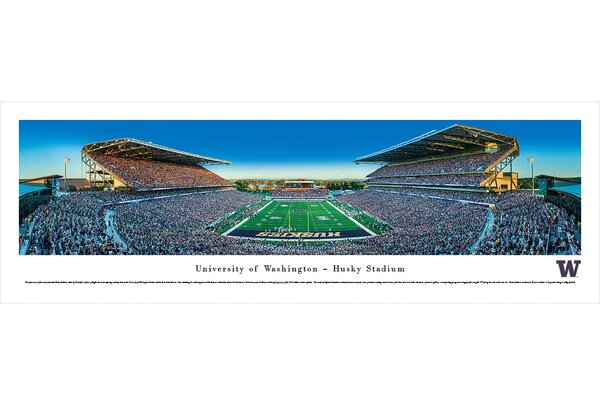 NCAA Washington, University of - Football by Christopher Gjevre Photographic Print by Blakeway Worldwide Panoramas, Inc