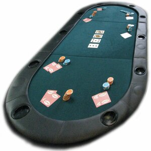 Texas Hold'em Poker Folding Tabletop With Cupholders