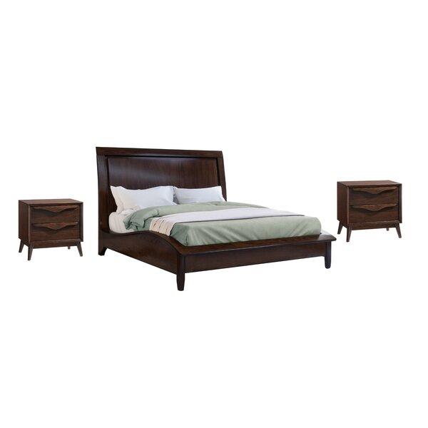 Laplant Solid Wood Platform 3 Piece Bedroom Set by George Oliver