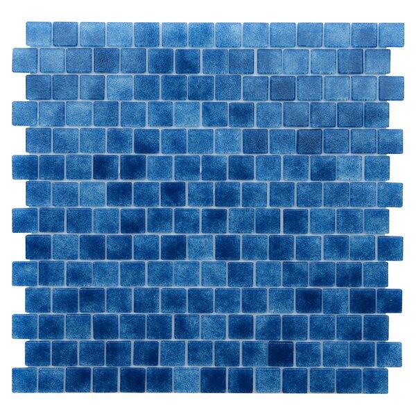 Quartz 0.75 x 0.75 Glass Mosaic Tile in Blue/Lapis Blue by Kellani