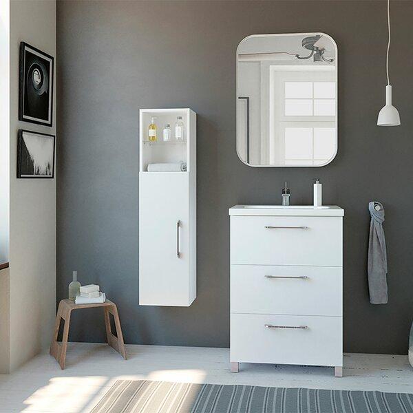 Tanisha Modern 24 Single Bathroom Vanity Set with Mirror