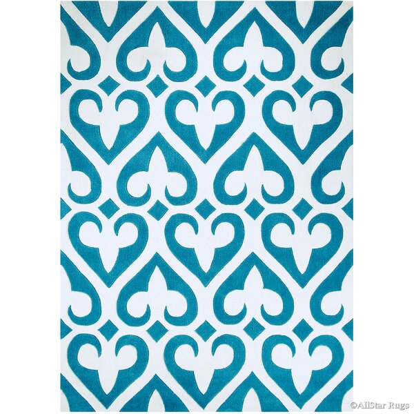 Hand-Tufted Turquoise Area Rug by AllStar Rugs
