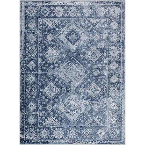 Mahn Blue/Gray Area Rug by Union Rustic