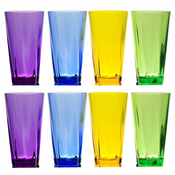 Fulford Break-Resistant 8 Piece 21 oz. Plastic/Acrylic Every Day Glass Set by Ivy Bronx