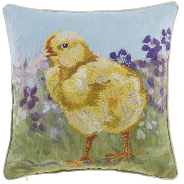 Burson Chick Throw Pillow by August Grove