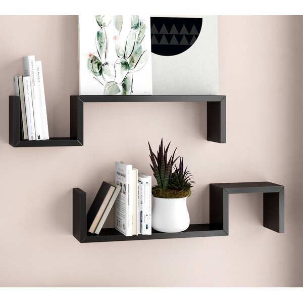 Jazlynn Floating Shelf (Set of 2) by Ivy Bronx