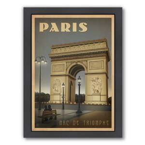 Paris ARC Framed Vintage Advertisement by East Urban Home
