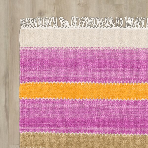 Buckhead Hand-Tufted Tangerine/Magenta Area Rug by Bungalow Rose