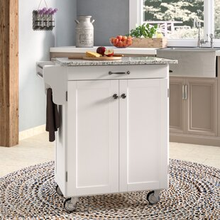 Savorey Kitchen Cart with Granite Top by August Grove