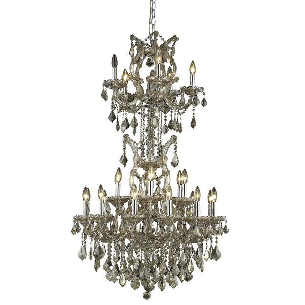 Regina 25 - Light Candle Style Tiered Chandelier by House of Hampton House of Hampton