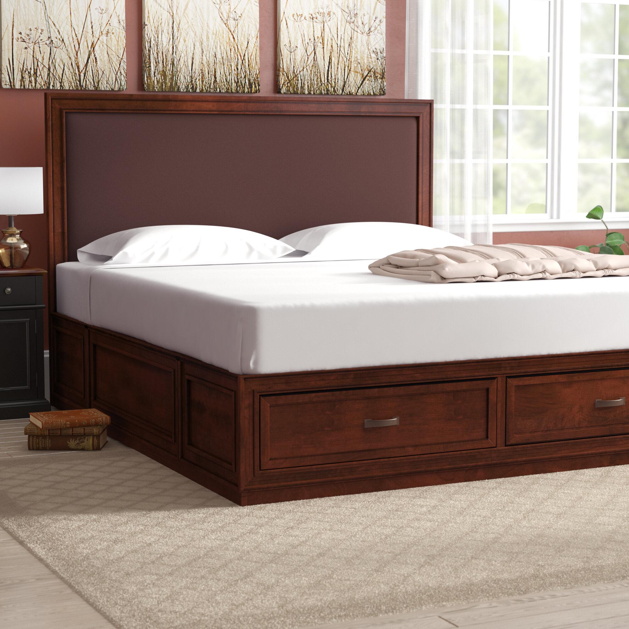 Picture of: Darby Home Co Myra King Upholsteredstorage Platform Bed