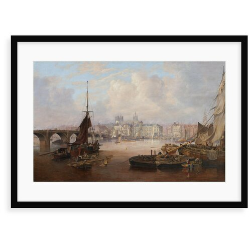 A View of Newcastle Painting East Urban Home Format: Framed
