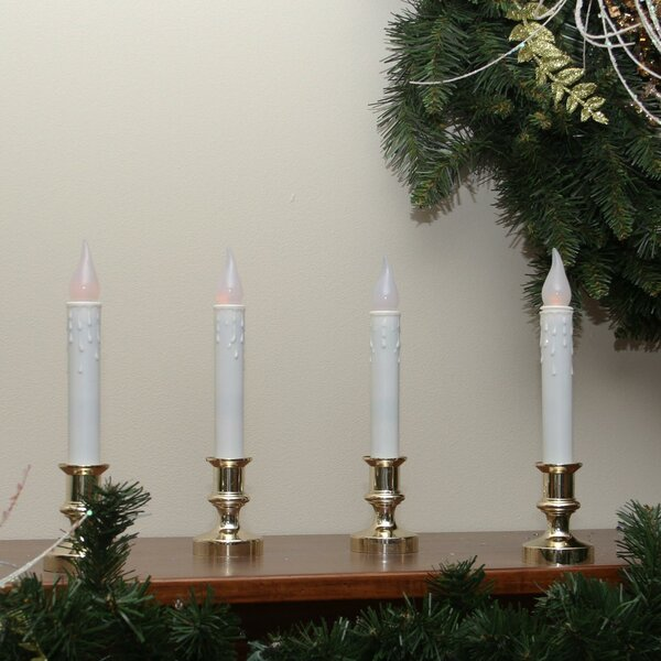 Flickering Window Christmas Candle Lamp (Set of 4) by The Holiday Aisle