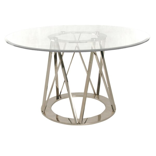 Mayall Round Metal Dining Table by Orren Ellis