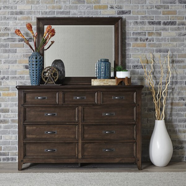 Earby 9 Drawer Dresser with Mirror by Canora Grey