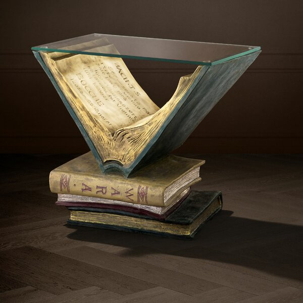 Old Books End Table By Eichholtz