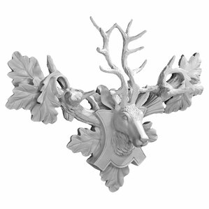 tres chic deer head wall dcor