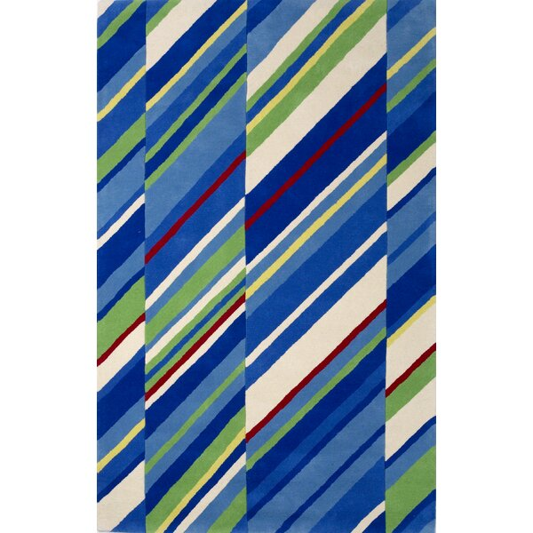 Dallin Hand-Tufted Wool Sailing Stripes Area Rug by Harriet Bee