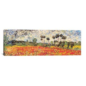 'Field of Poppies' by Vincent Van Gogh Painting Print on Wrapped Canvas by Three Posts