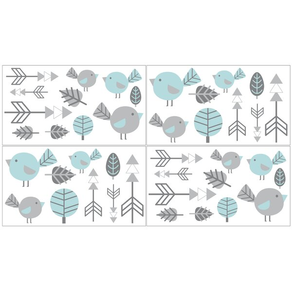 Earth and Sky 4 Piece Wall Decal Set by Sweet Jojo Designs