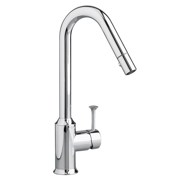 Pekoe Pull Down Single Handle Kitchen Faucet with Side Spray by American Standard