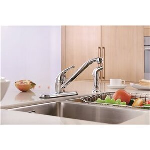 Premier Faucet Bayview Single Handle Pull Out Standard Kitchen Faucet with Side Spray