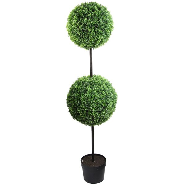 58 Tall Artificial Double Ball Shaped Boxwood Topiary in Pot by Admired by Nature