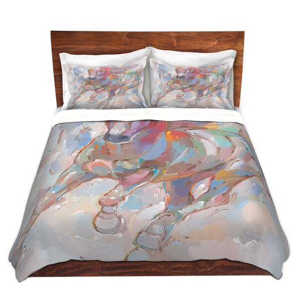 Mayers Hooshang Khorasani Takin the Turn Horses Microfiber Duvet Covers