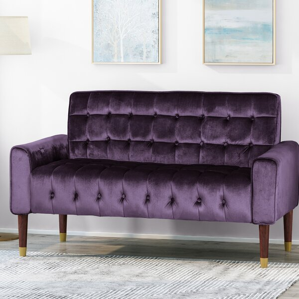 Papillion Tufted Loveseat By Everly Quinn by Everly Quinn New
