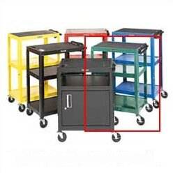 Cabinet Table AV Cart with Big Wheels on One End by Luxor