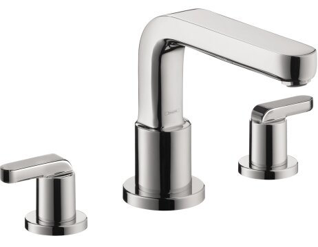 Metris S Two Handle Deck Mount Roman Tub Faucet by Hansgrohe