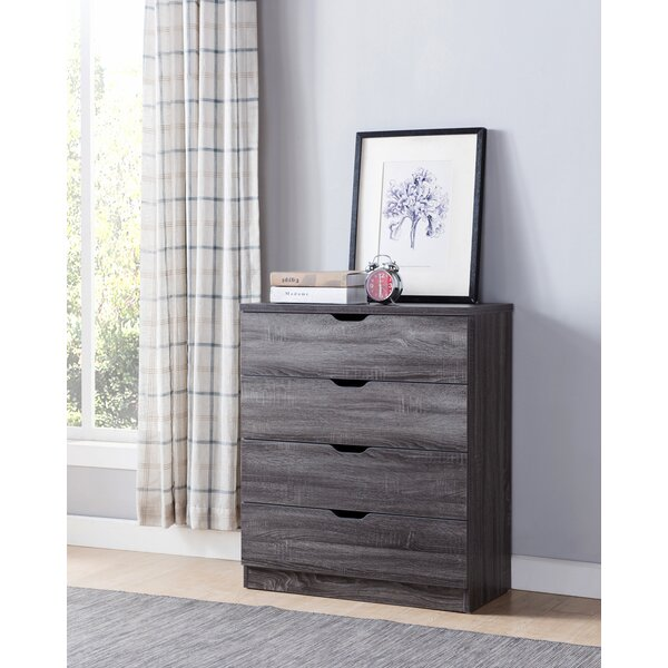 Terrazas Creative Distressed Utility 4 Drawer Bachelors Chest by Trent Austin Design