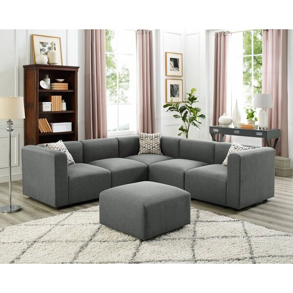Johns Modular Sectional with Ottoman by Wrought Studio