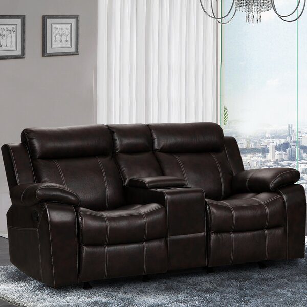 Find Popular Manan Gliding Reclining Loveseat by Red Barrel Studio by Red Barrel Studio