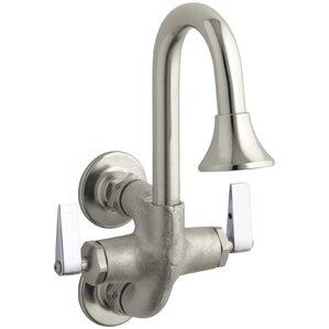 cannock double lever handle wash sink faucet - Kohler Bathroom Faucets