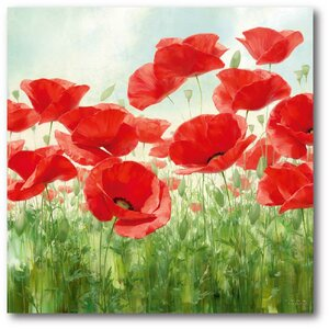 'Poppie' Painting Print on Wrapped Canvas by Andover Mills
