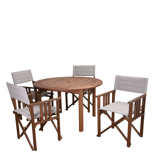 Sanor Patio 5 Piece Dining Set by Beachcrest Home