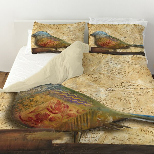 Bird Printed Duvet Cover by East Urban Home