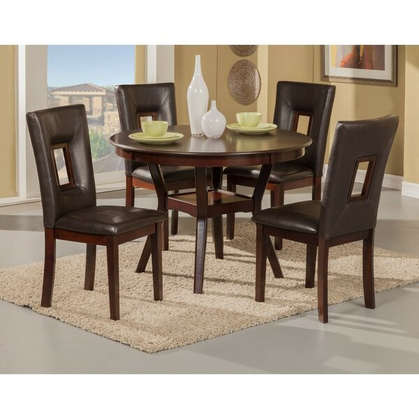 Gowins 5 Piece Solid Wood Dining Set by Ebern Designs