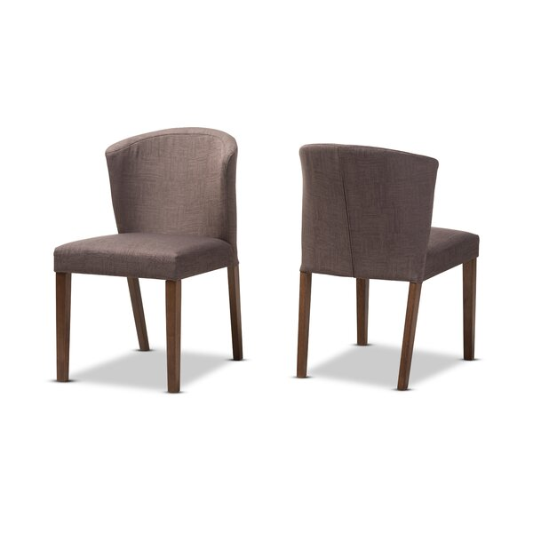 Stalnaker Mid-Century Modern Upholstered Dining Chair (Set of 2) by Brayden Studio