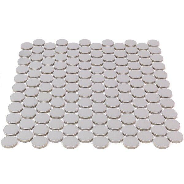 Bliss 1 x 1 Ceramic Mosaic Tile in Gray by Splashback Tile