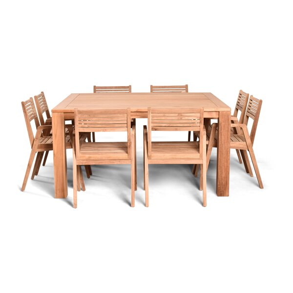 Link 9 Piece Teak Dining Set (Set of 9) by Harmonia Living